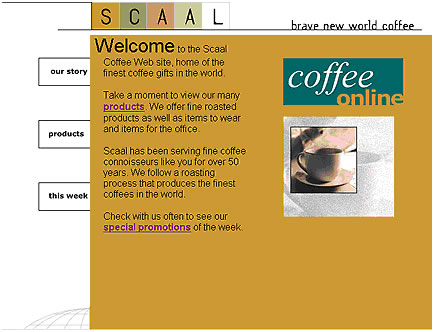 Scaal image layout starter page